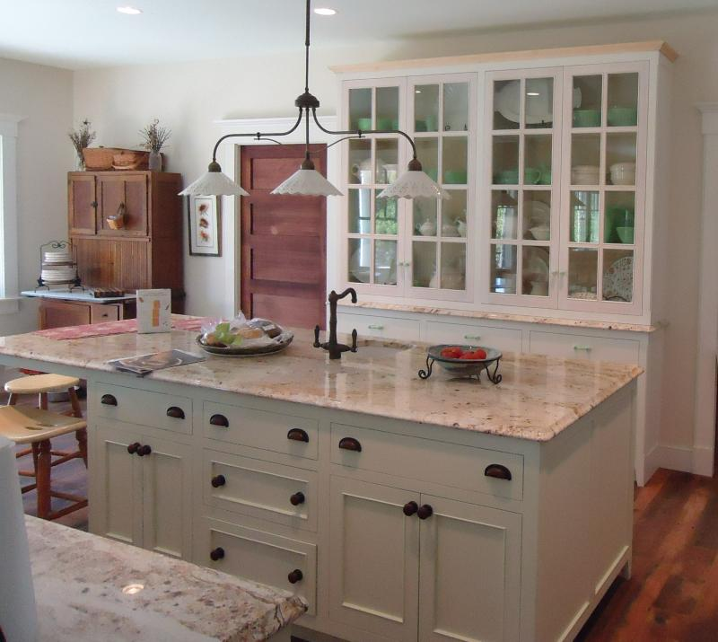 Custom Kitchen Constructed Out Of Maple With A Hand Painted Finish
