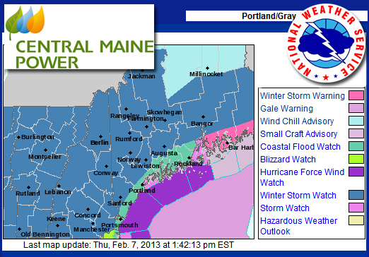 Central Maine Power Preps For Winter Storm Nemo Penbay Pilot