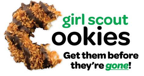 get them while you can final weekend for local girl scout