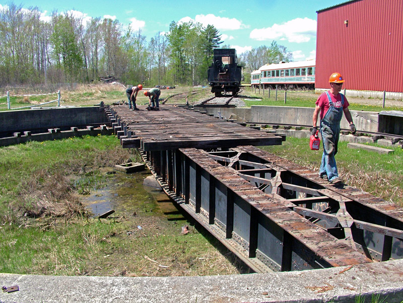 In Unity, former B&ML railroad equipment headed south