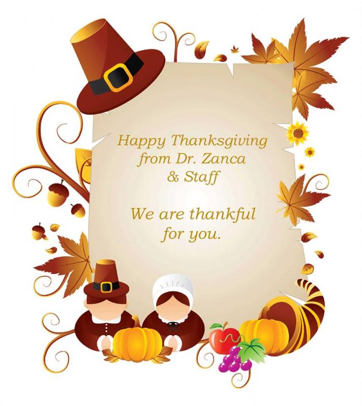 Happy Thanksgiving For Dr Zanca And Maine Coast