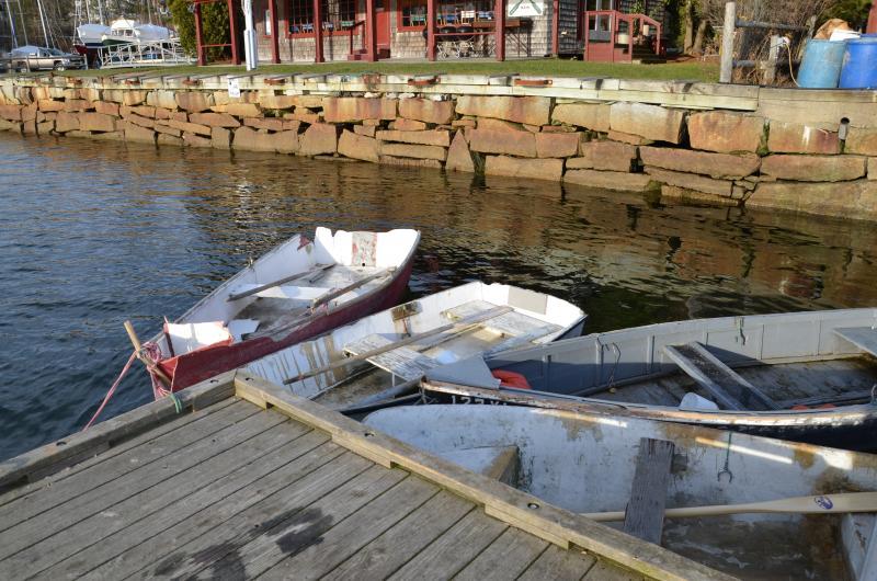 lobster boats Rockport Harbor Maine