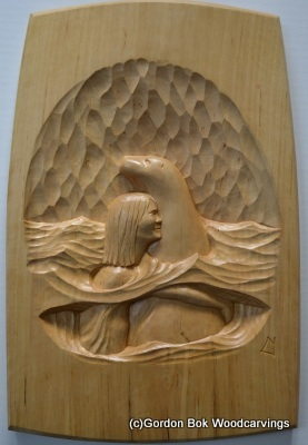 Wood Carvings Of Gordon Bok On Display At Maine Maritime