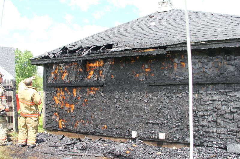 The back and attic/roof ... & Cardboard boxes too close to a dryer vent causes fire | PenBay Pilot