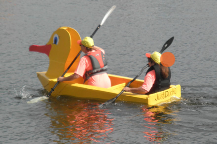 An Entry In The Belfast Harbor Fest Cardboard Boat Challenge