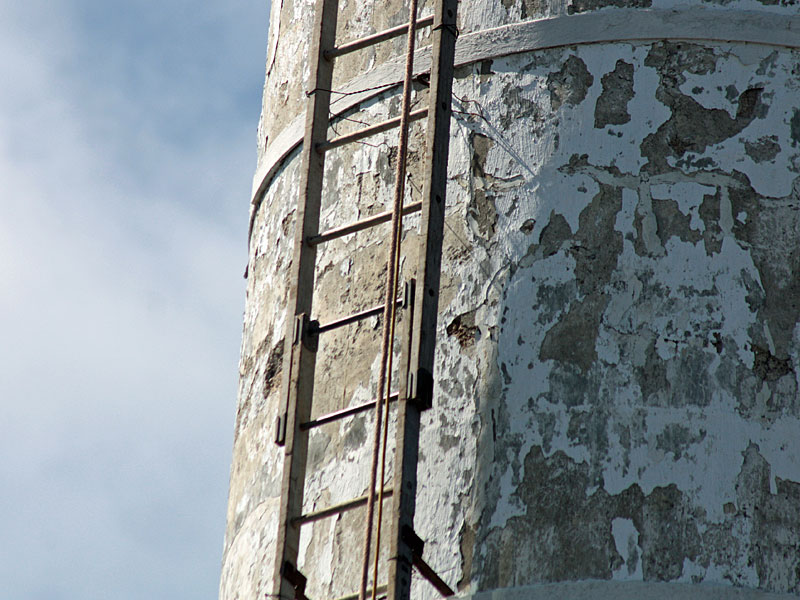 Knox mill smokestack repairs begin with installation of - Exterior scaffolding rental near me ...