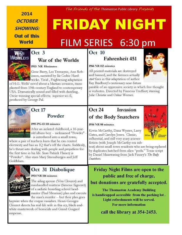 October movies are out of this world in Thomaston | PenBay Pilot