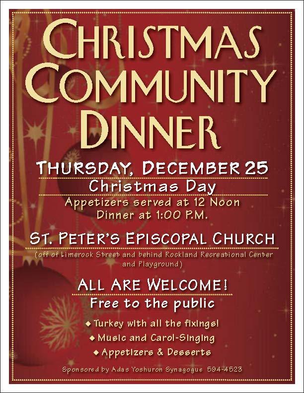 synagogue serves community dinner delivers christmas meals on