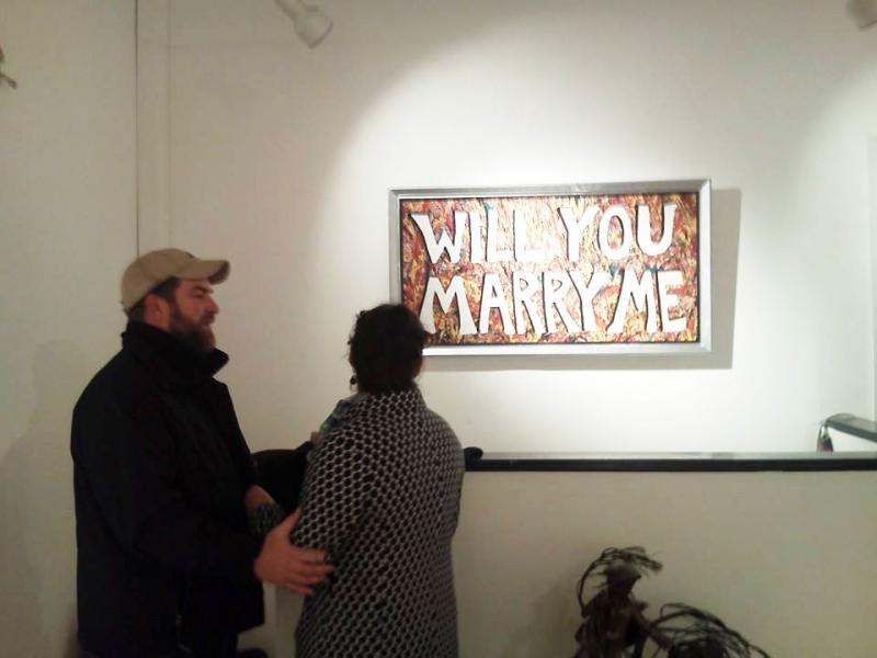... proposes through a custom-made painting hanging in Rockland gallery