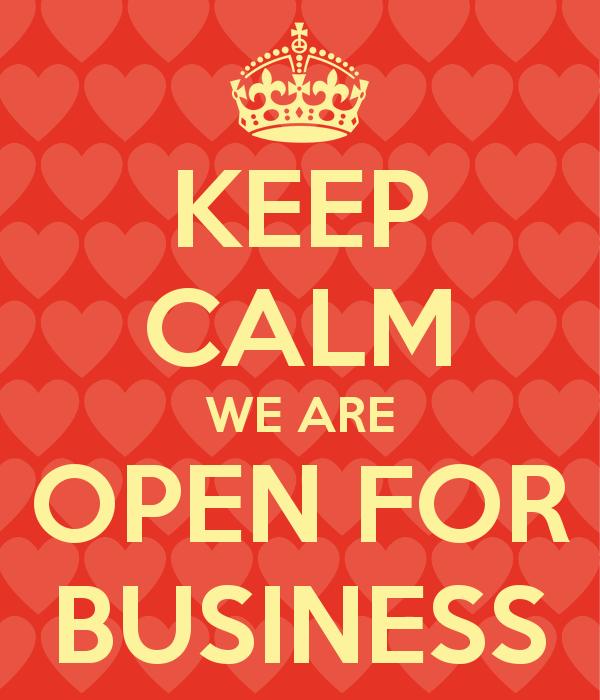 Keep Calm We Are Open Penbay Pilot