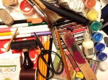 Art stuff sale at waterfall arts benefits young artists for Where to donate craft supplies