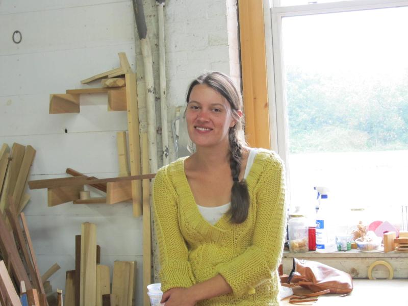 Ginny Blanchard In Her Woodworking Studio, A Collaborative Space At The  Bicknell Building In Rockland. (Photo By Kay Stephens)