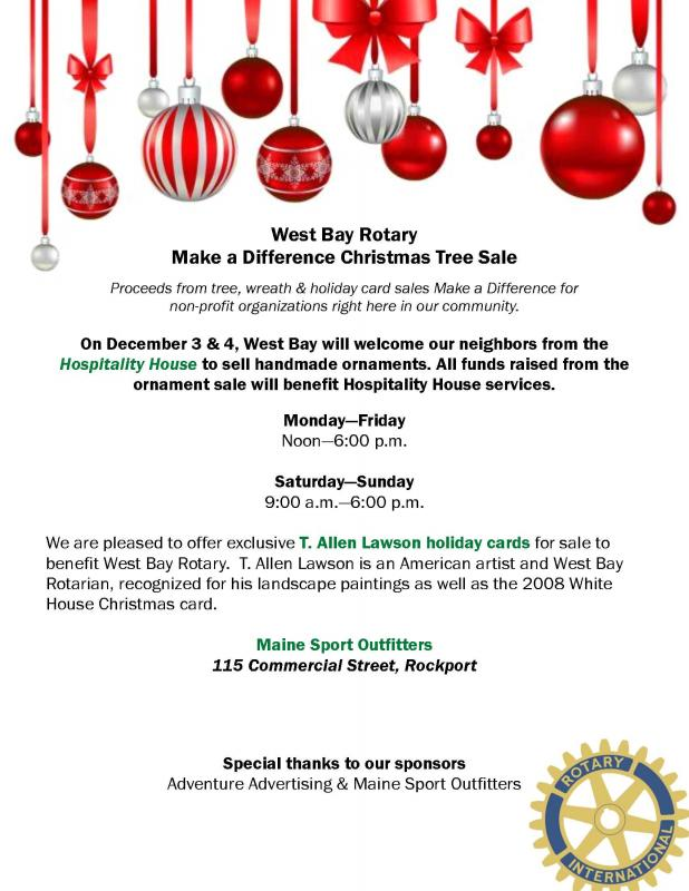 west bay rotary make a difference christmas tree sale penbay pilot