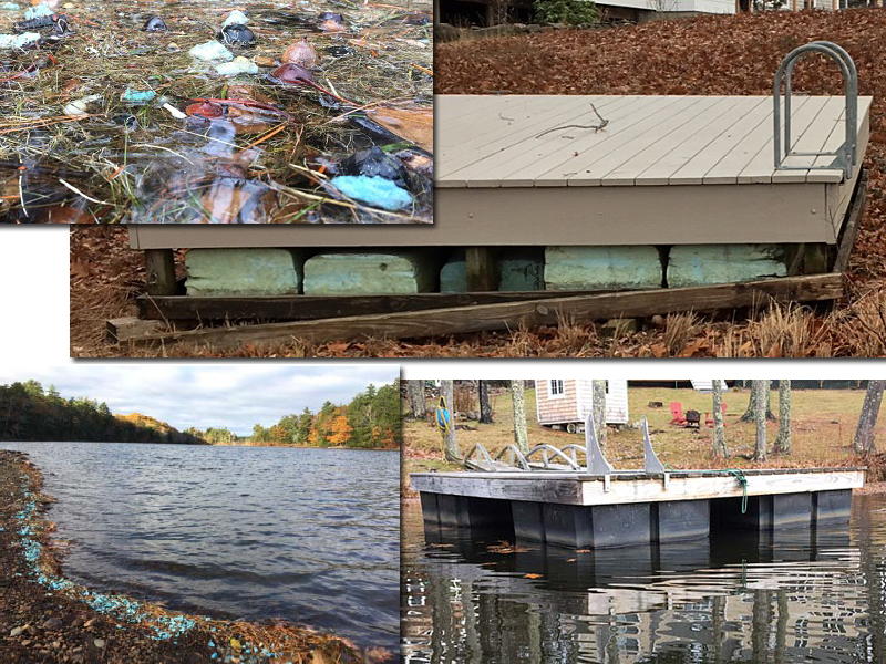 The problem with un‐encapsulated polystyrene - Styrofoam - in dock