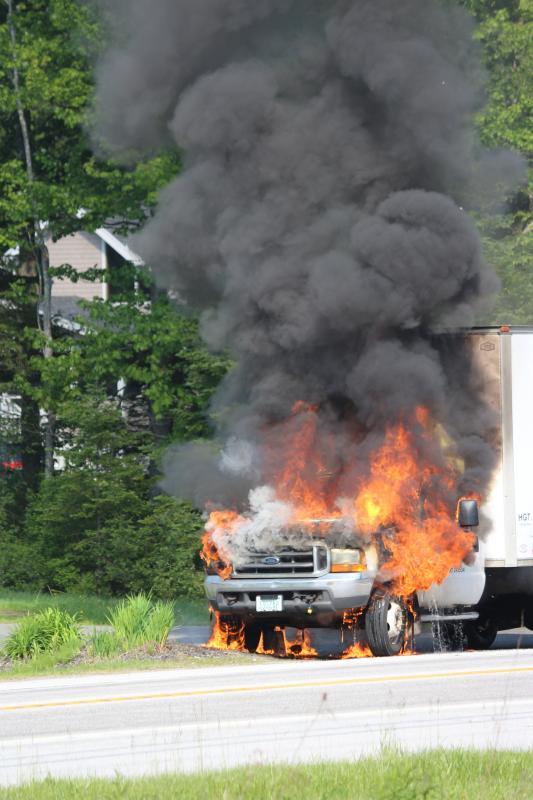 Wiscasset Traffic Camera >> Blaze consumes box truck in Northport | PenBay Pilot