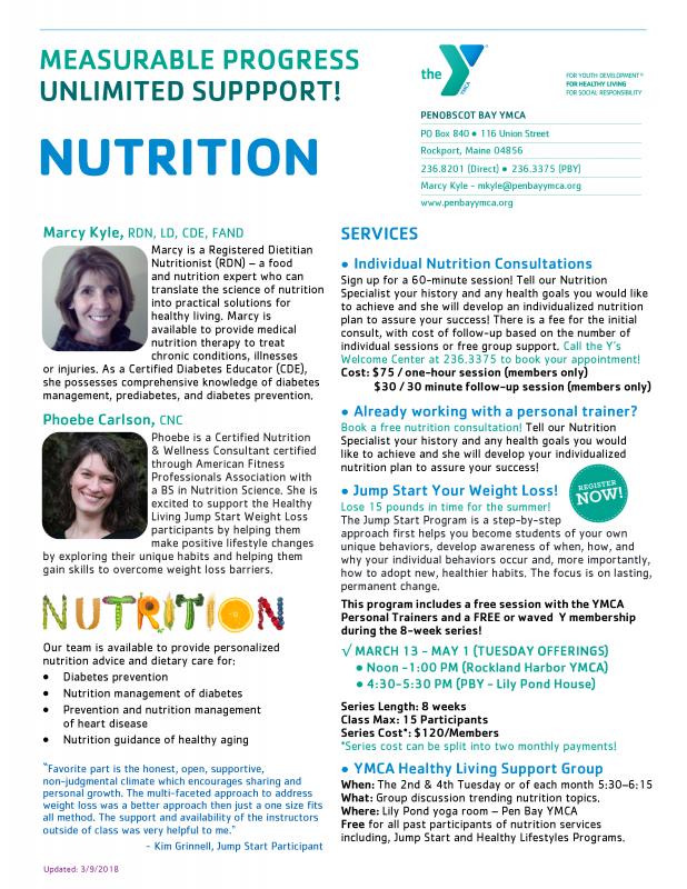 Meet The Ymca S Nutrition Team Jump Start Your Weight Loss Program