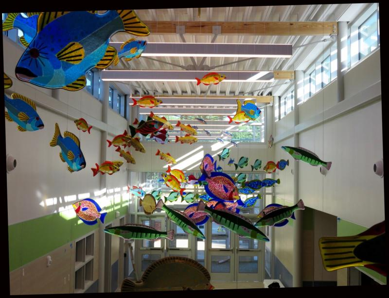 Janet Redfieldu0027s Swimming Fish, Now Hanging In The Amanda C. Rowe  Elementary School In Portland. (Photo Courtesy Janet Redfield)