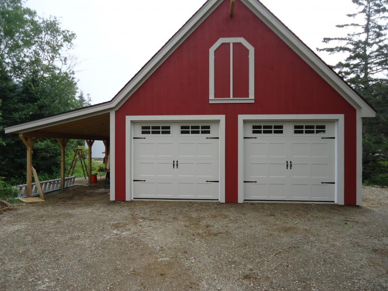 New Steel Insulated Carriage House Garage Doors Installed