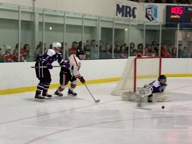 Hampden Hands Camden Hills Ice Hockey First Home Loss Penbay Pilot