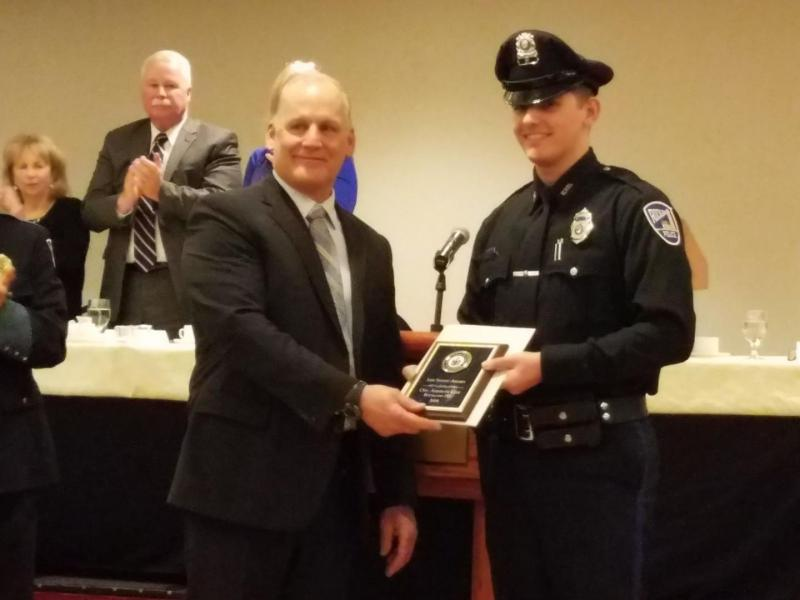 Rockland police officer honored for life-saving work