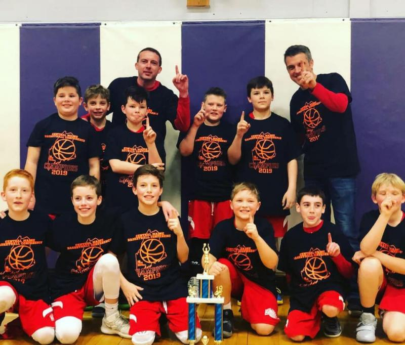 0f3461b43 The Five Town fifth grade boys basketball team. (Courtesy Five Town  Basketball)