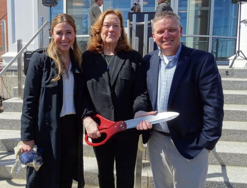 Maine Chief Justice Leigh Saufley Cuts Ribbon On New Waldo Judicial