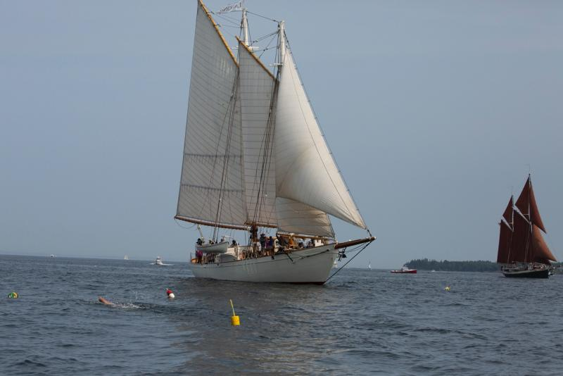 The 'Mary Day' takes the lead in 43rd Great Schooner Race
