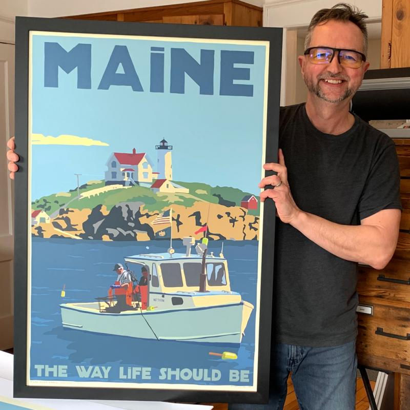 'A Conversation with Artist Alan Claude,' Camden Library's June artist supports library