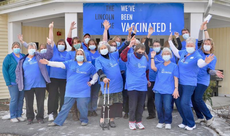 The Lincoln Home and Harbor View Cottage received the second Vaccine