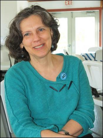 Meg Weston, president of maine Media + College (Photo by Chris Wolf)