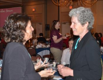 Cate Cronin, at right, of Rockport. (Photo by Lynda Clancy)