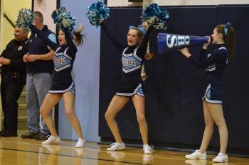 High School Cheerleader Bent Over
