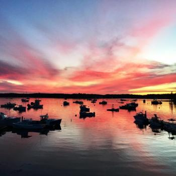 sunsets, boothbay harbor