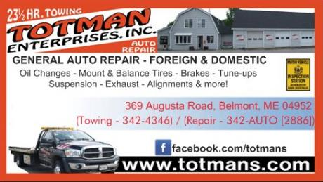 Totman's Auto Repair, AAA road service, road condition updates, Waldo County, Belfast, Maine, Belmont, auto repair, suspension, brakes, towing, exhaust, diagnostics, alignments, new tires, fleet repair, intoxalock, NAPA Autocare.
