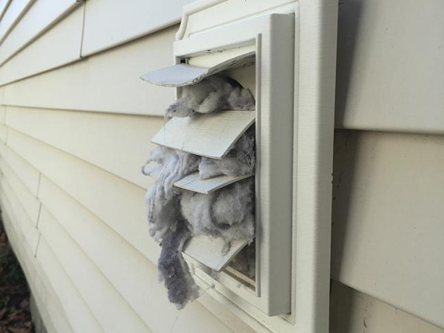 If Your Dryer Lint Vent Ever Looks Like This It S Time To Clean The Entire From Wall Liance