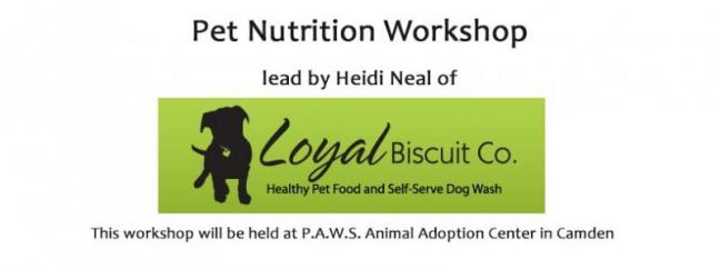 Workshop on Pet Nutrition